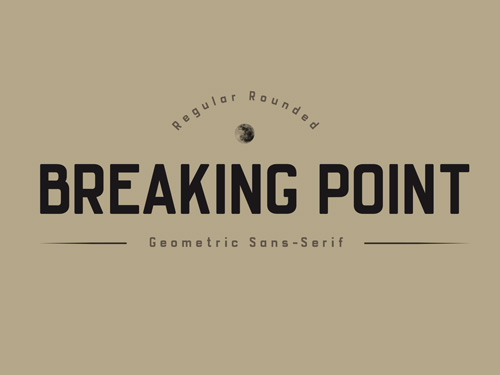 Breaking Point Typeface